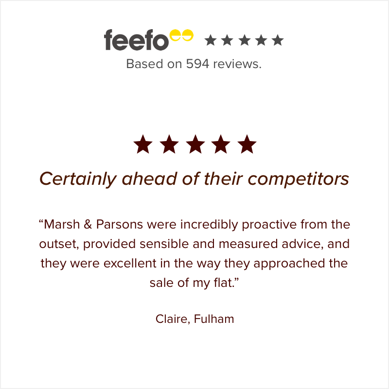 5 star review from a Marsh & Parsons Fulham customer
