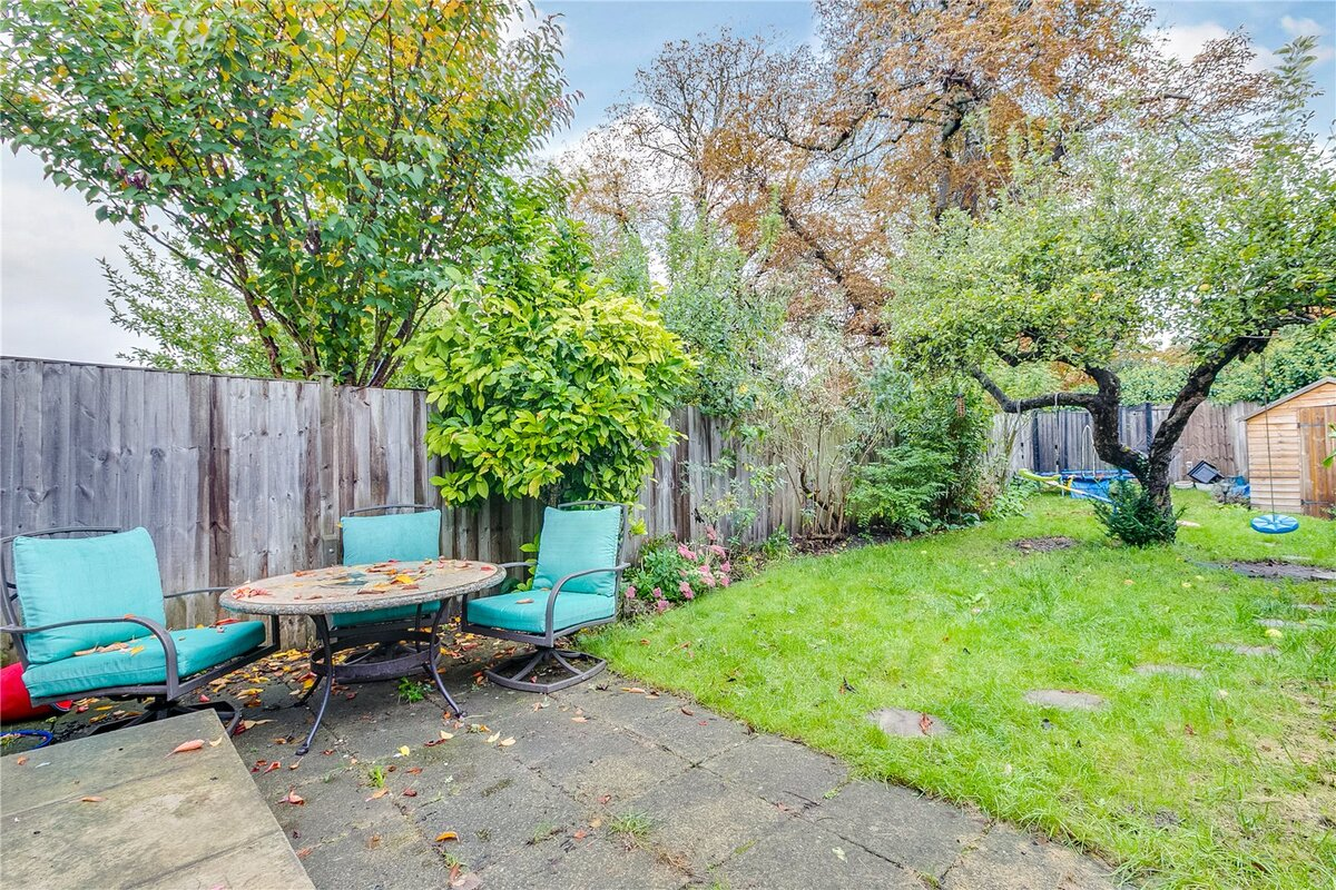 outside space- garden with patio and grass